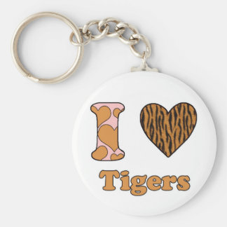 I love Tigers Keychain