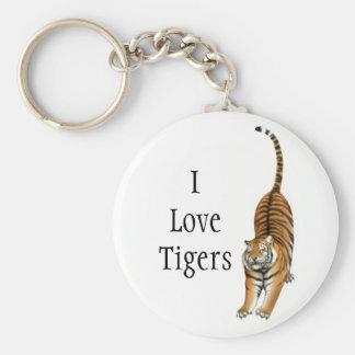 I Love Tigers Keychain