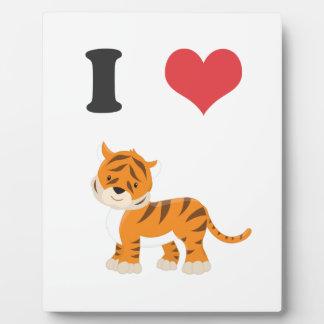 I Love Tigers Plaque