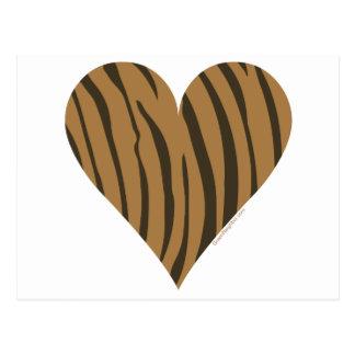 I Love Tigers Postcard