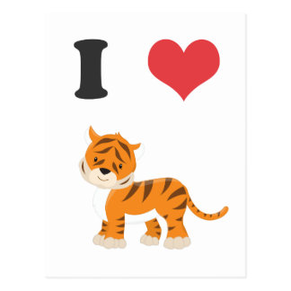I Love Tigers Postcard