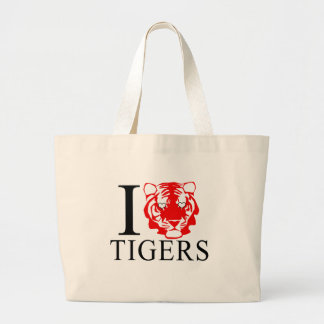 I Love Tigers Tote Bags
