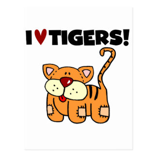 I Love Tigers Tshirts and Gifts Postcard