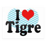 I Love Tigre Postcard