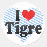 I Love Tigre Stickers
