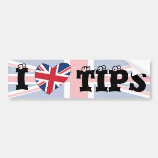 I love tiips bumper sticker