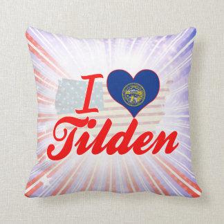I Love Tilden, Nebraska Throw Pillow