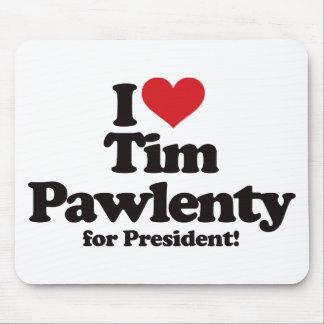 I Love Tim Pawlenty for President Mouse Pad