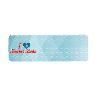 I Love Timber Lake, South Dakota Return Address Label
