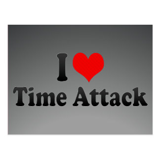 I love Time Attack Postcard