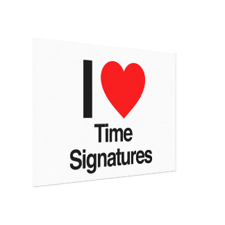i love time signatures gallery wrapped canvas