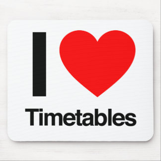 i love timetables mouse pad