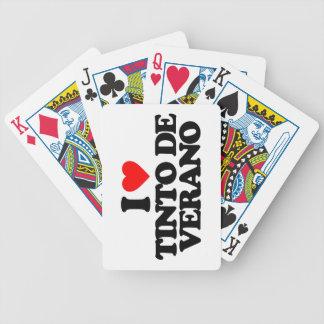 I LOVE TINTO DE VERANO BARAJA CARTAS DE POKER