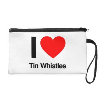 i love tinwhistles wristlet clutch