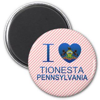 I Love Tionesta, PA 2 Inch Round Magnet