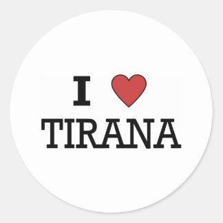 I Love Tirana Classic Round Sticker