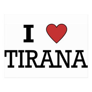 I Love Tirana Postcard