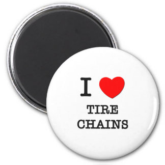 I Love Tire Chains 2 Inch Round Magnet