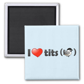 I Love Tits (BCCH) 2 Inch Square Magnet