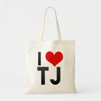 I Love TJ Tote Bags