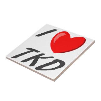 I Love TKD Ceramic Tile