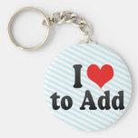 I Love to Add Keychain