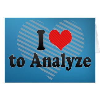 I Love to Analyze Card