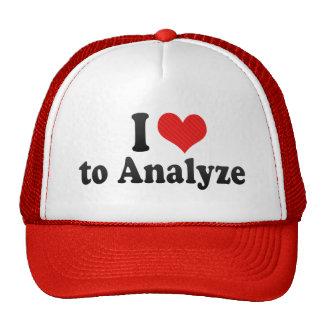 I Love to Analyze Trucker Hat
