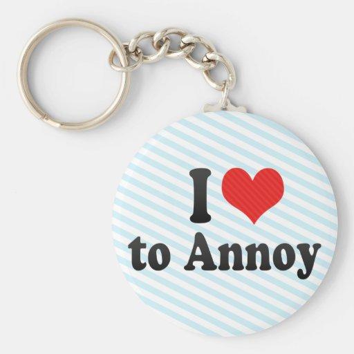 I Love to Annoy Basic Round Button Keychain