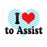 I Love to Assist Post Card