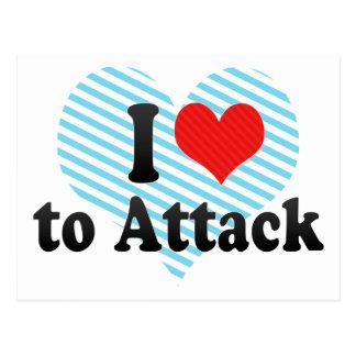I Love to Attack Postcard