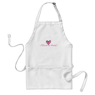 I Love To Bake Adult Apron
