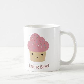 I love to bake classic white coffee mug