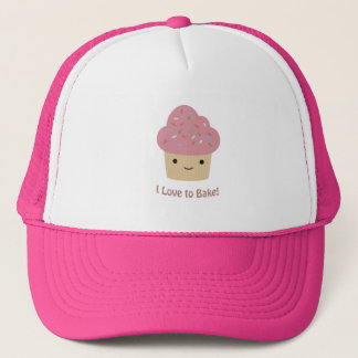 I love to Bake! Cute Cupcake Trucker Hat