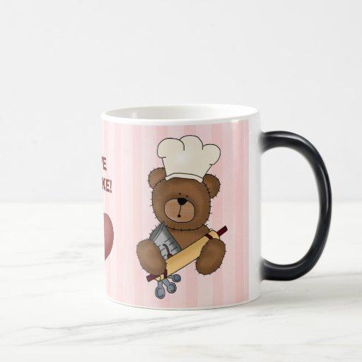 I LOVE TO BAKE! mug Morphing Mug