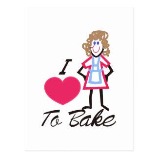 I Love To Bake Postcard