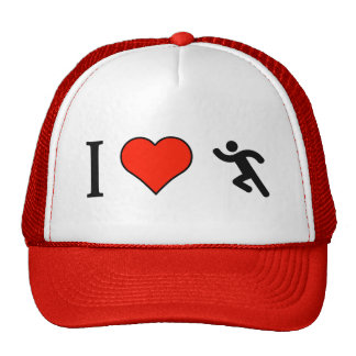I Love To Be A Runner Trucker Hat