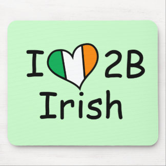 i love to be irish mouse pad