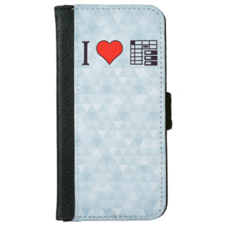 I Love To Be Organised iPhone 6/6s Wallet Case