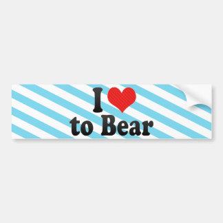 I Love to Bear Bumper Sticker