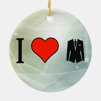 I Love To Become Dapper Double-Sided Ceramic Round Christmas Ornament