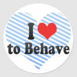 I Love to Behave Stickers