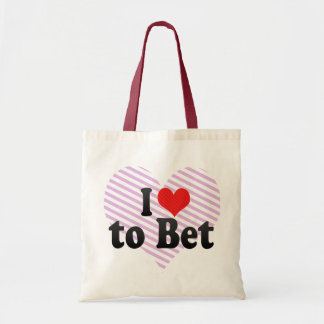 I Love to Bet Tote Bags