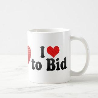 I Love to Bid Coffee Mug