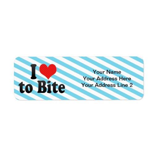 I Love to Bite Return Address Labels