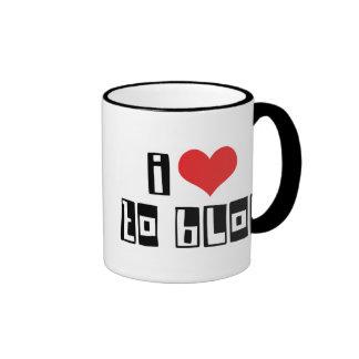 I Love To Blog Ringer Mug