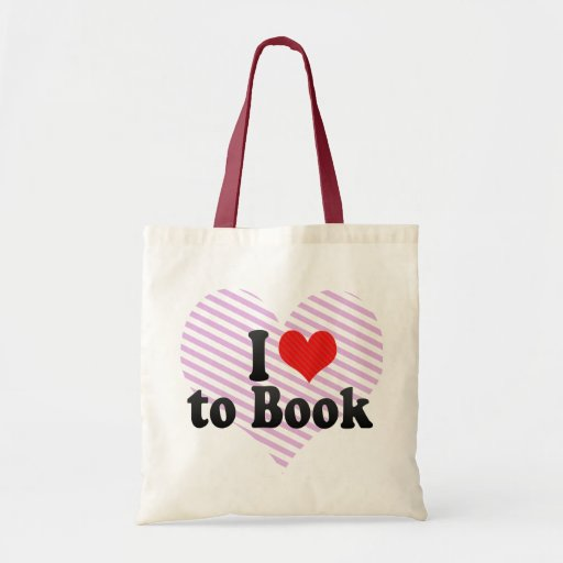 I Love to Book Canvas Bag