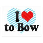 I Love to Bow Postcard