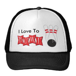 I Love To Bowl Hats