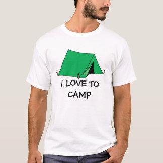 I Love To Camp Kids Camping Tee Shirt Gift